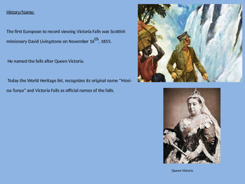 Victoria Falls - Power Point largest in the world history facts pictures