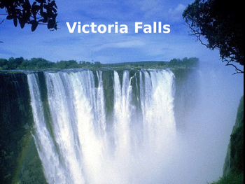 Victoria Falls - Power Point largest in the world history