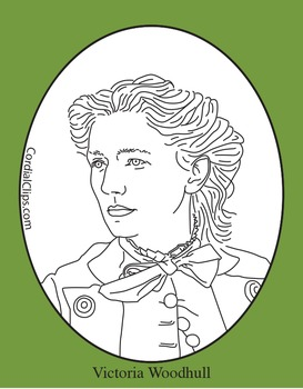 Victoria Woodhull Clip Art, Coloring Page or Mini Poster