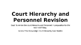 Victorian Court Hierarchy and Personnel Revision PowerPoint