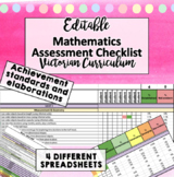 Victorian Curriculum Achievement Assessment Checklist - MATHS P-6