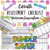 Victorian Curriculum Achievement standards Assessment Tracker Bundle Time Saver!