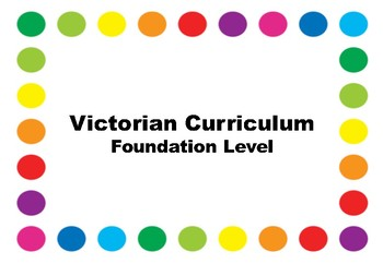Victorian Curriculum Checklists - Foundation Level