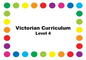 Victorian Curriculum Checklists - Level 4
