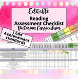 Victorian Curriculum ENGLISH READING p-6 Assessment Tracker checklist!! EDITABLE