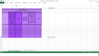 Victorian Curriculum Excel checklist