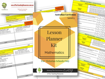 Victorian Curriculum Lesson Planner - LEVEL 3 Maths
