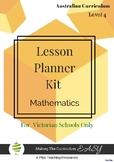 Victorian Curriculum Lesson Planner - LEVEL 4 Maths