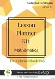 Victorian Curriculum Lesson Planner - LEVEL 5 Maths