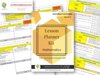 Victorian Curriculum Lesson Planner - LEVEL 6 Maths