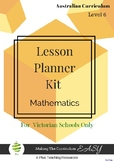 Victorian Curriculum Lesson Planner - LEVEL 6 Maths