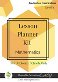 Victorian Curriculum Lesson Planner - LEVEL 1 Maths