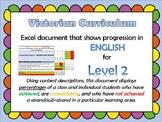 Victorian Curriculum Level 2 English Progression Excel