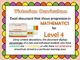 Victorian Curriculum Level 4 Math's Progression Excel