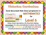 Victorian Curriculum Level 6 Math's Progression Excel