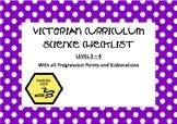Victorian Curriculum Science Checklist - Level 3-4