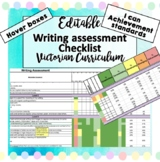 Victorian Curriculum Writing Assessment English Checklist