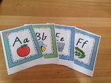 #AUSBTS18 Victorian Cursive Alphabet posters (polka dot +