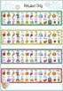 Victorian Cursive Desk Alphabet Strips