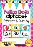 Victorian Modern Cursive Font Alphabet Posters Collection