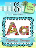 Full of Flowers Alphabet and Number Clip Art