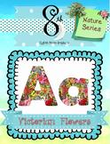 Victorian Flowers ABC Clip Art
