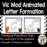 Victorian Modern Cursive Letter formation Powerpoint animations with rhymes