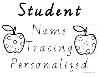 Victorian Modern Cursive Name Tracers: Class Set