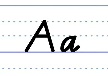 Victorian Modern Cursive font on dotted thirds - printable classroom display