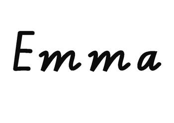 Victorian Modern Cursive name practise - Emma