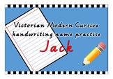 Victorian Modern Cursive name practise - Jack