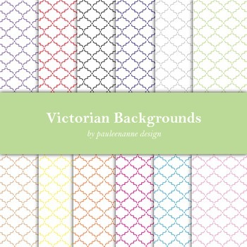 Victorian Pattern Background Package