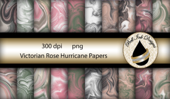 Victorian Rose Hurricane Papers Clipart