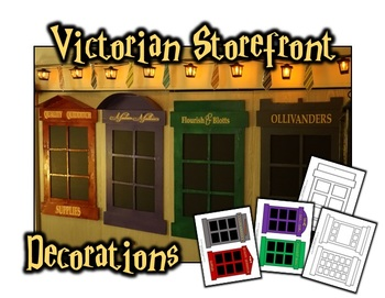 Victorian Storefront Decorations