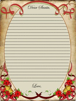 Victorian Style Christmas Letter