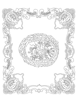 Victorian Valentines: Coloring Pages (Vol. III)