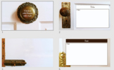Victorian Vintage Door Hardware PowerPoint Theme (Blank Pr