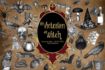Victorian Witch Clipart