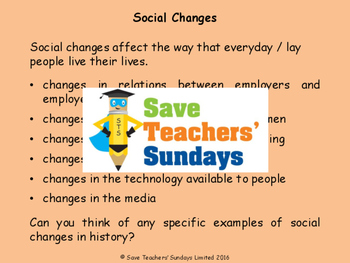 Victorian changes and improvements Lesson plan, PowerPoint and Worksheets