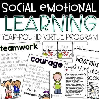 Victorious Virtues Social Emotional Learning Year-Round Program w/ Brag Tags