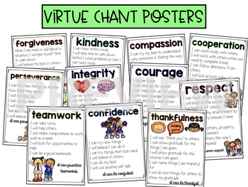 Social Emotional Learning Virtues