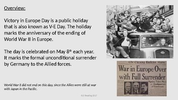 Victory in Europe Day - V E Day Power Point history facts information