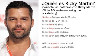 Vida by Ricky Martin Song Activities
