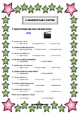 Video Activity - a teacher's daily routine