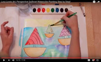Video Art Lesson: Sailboat Watercolor Painting
