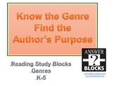 Author's Purpose VIDEO using Genre Blocks K-5
