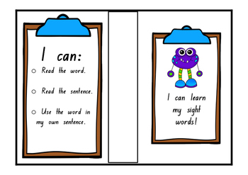 Video Box Covers for Sight Word Flash Cards (NSW FOUNDATION FONT)