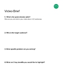 Video Brief Brainstorming Sheet