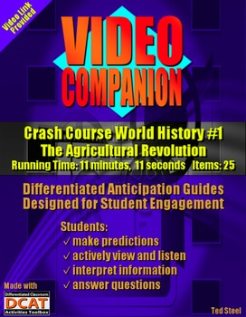 Video Companion: Crash Course World History #1, The Agricultural Revolution
