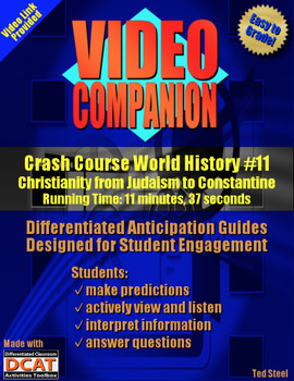 Video Companion: Crash Course World History #11, Christianity